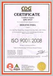 about biogene india